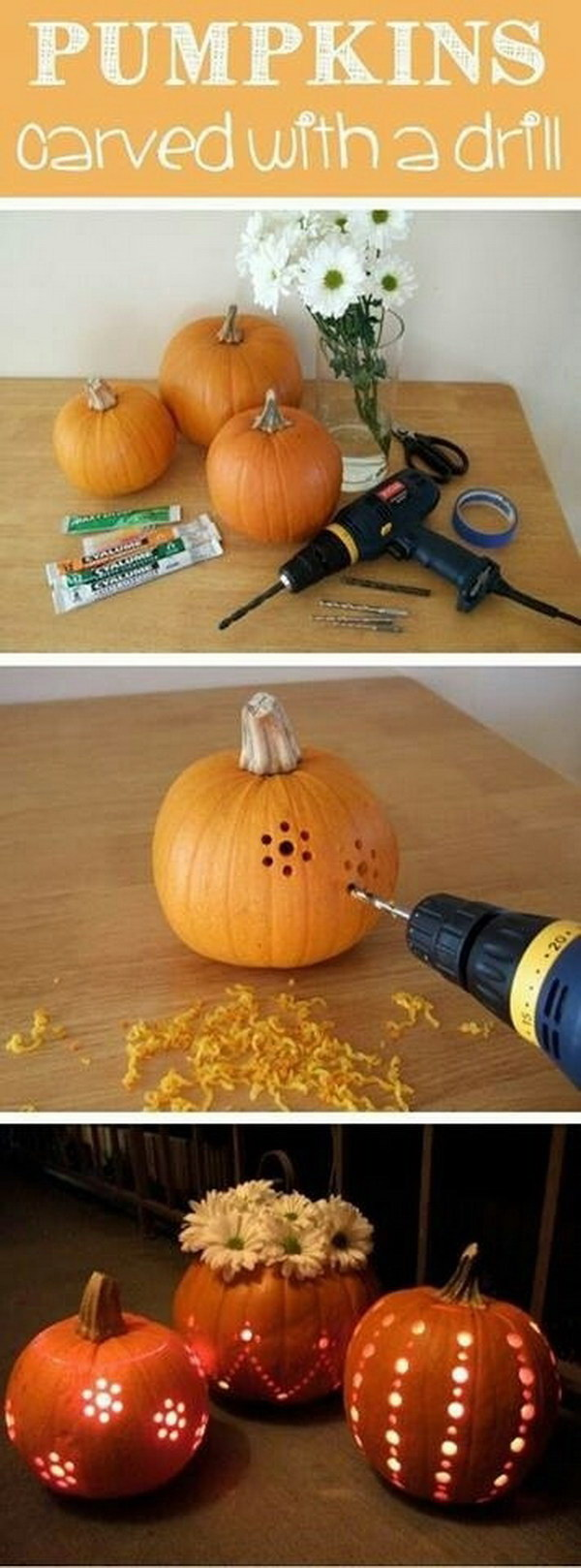 Easy DIY Pumpkin Lantern.