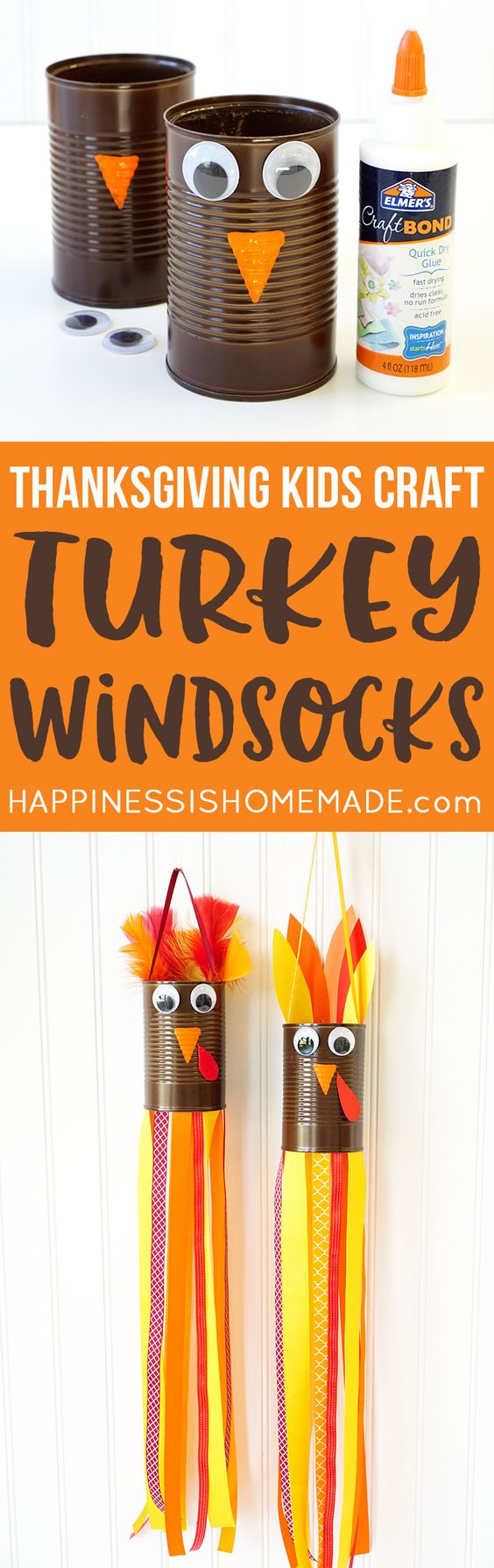 Turkey Windsocks Made From A Recycled Tin Can.