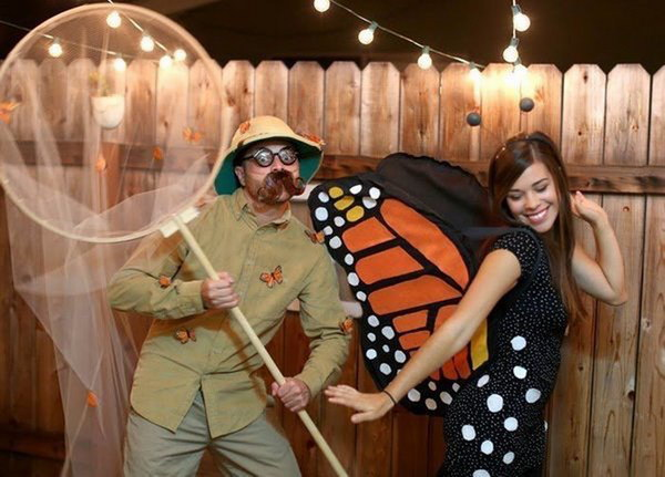 Butterfly and Catcher Costumes.