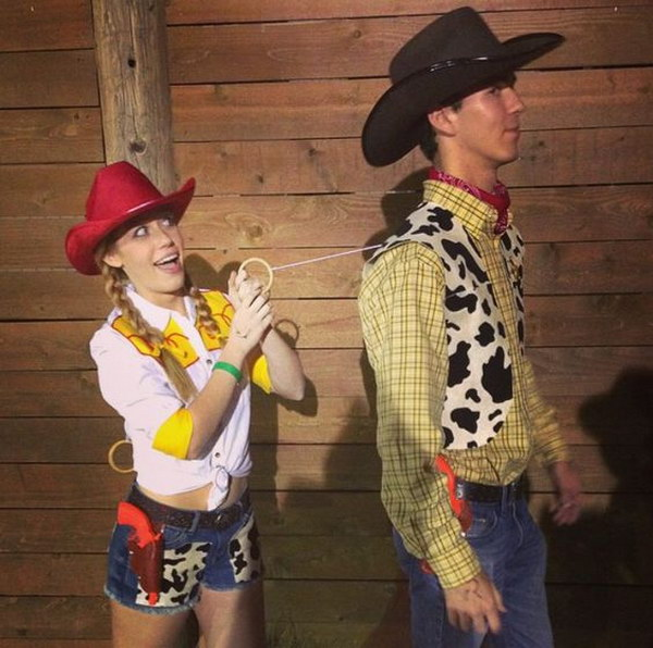 Woody and Jessie Toy Story Couple Costume.