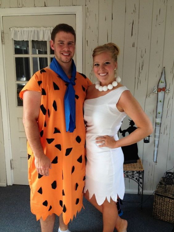 Flintstone Couple Costumes.