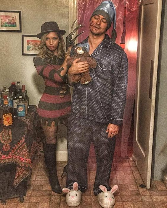 Freddy Krueger Couple Costumes.