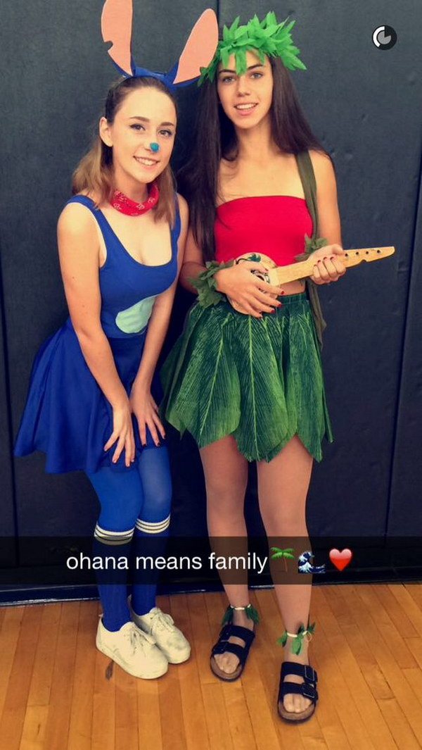 Lilo And Stitch Halloween Costume  sc 1 st  HomeYep & 30+ Girl Best Friend Halloween Costumes 2017