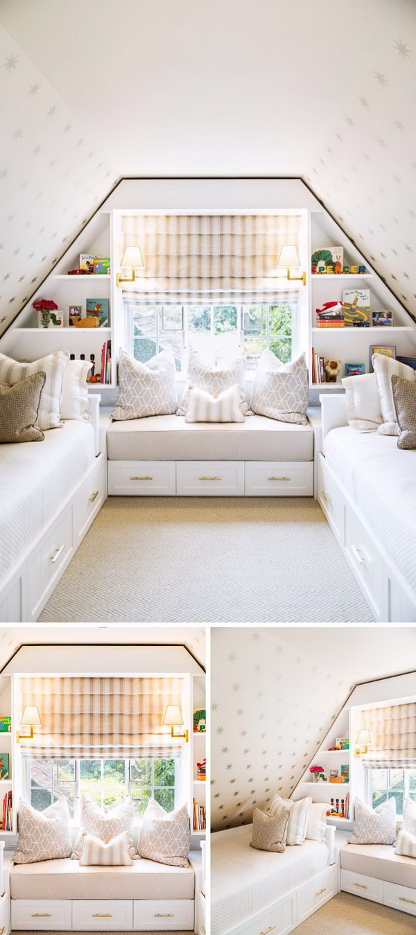 Build an Attic Bedroom Which Provides a Ton of Room for Storage and Organization.