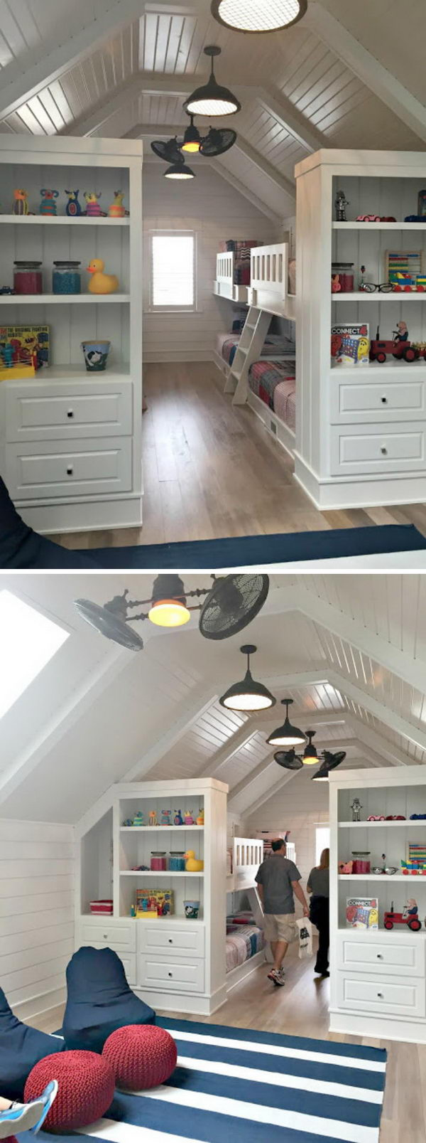 Attic Bookcase Storage.