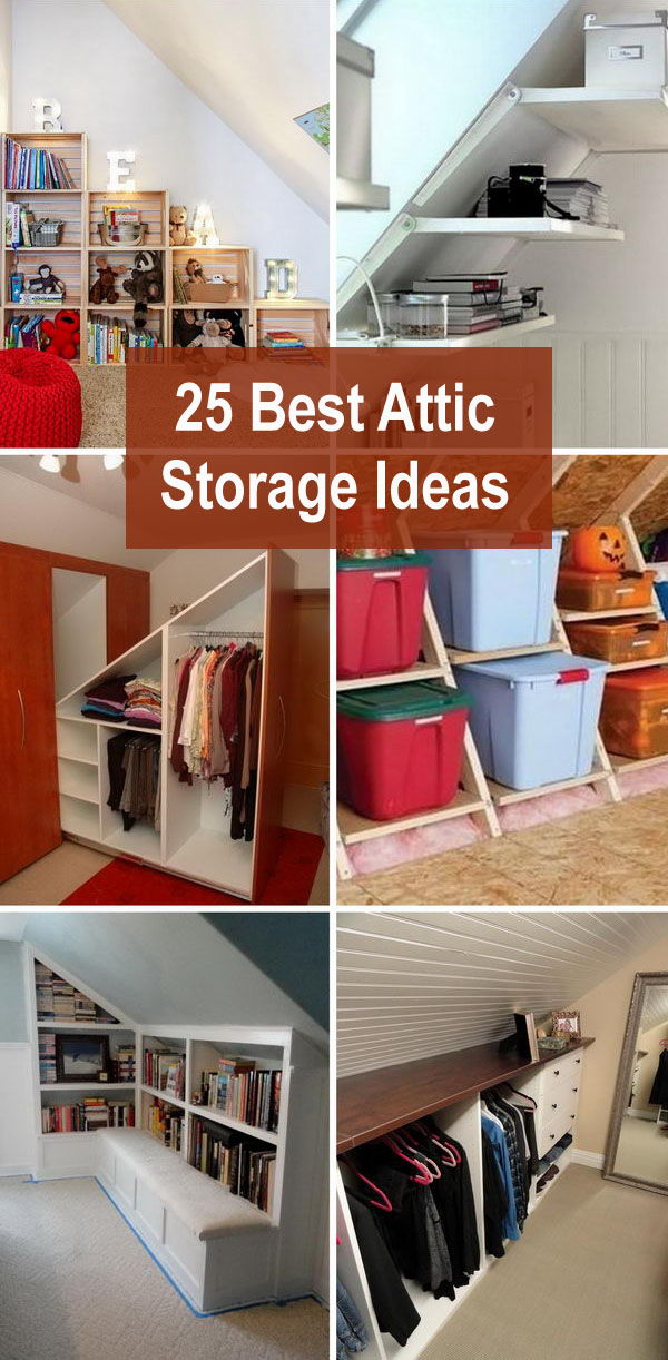 25 Best Attic Storage Ideas.