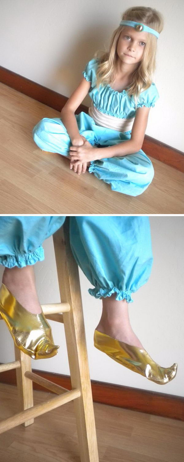 DIY Princess Jasmine Costume.