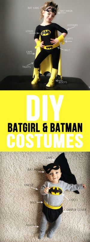 DIY Batman And Batgirl Costume.