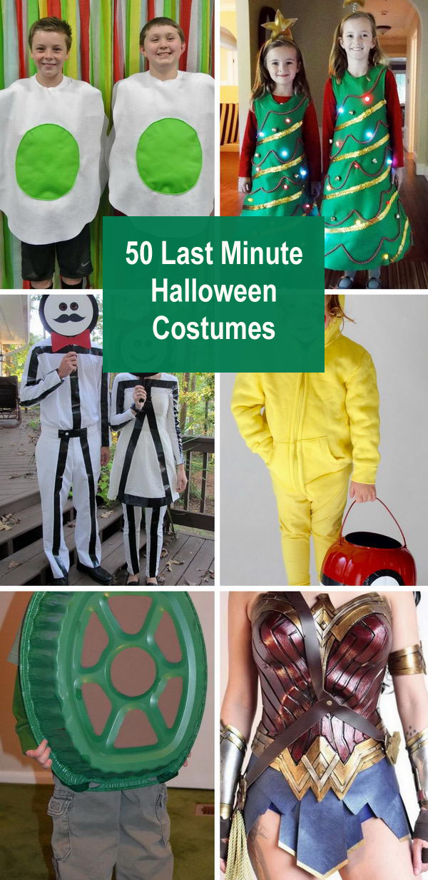 50+ Last Minute Halloween Costumes.