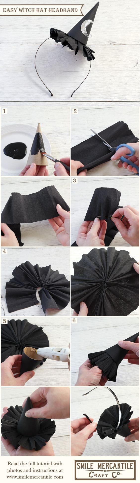 Easy Witch Hat Headband.