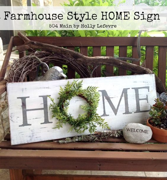 Farmhouse Style Inspired HOME Sign.