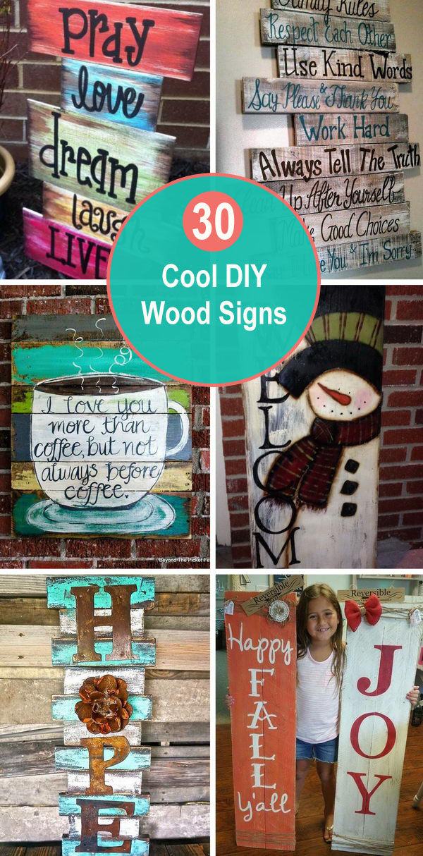 Cool DIY Wood Signs.