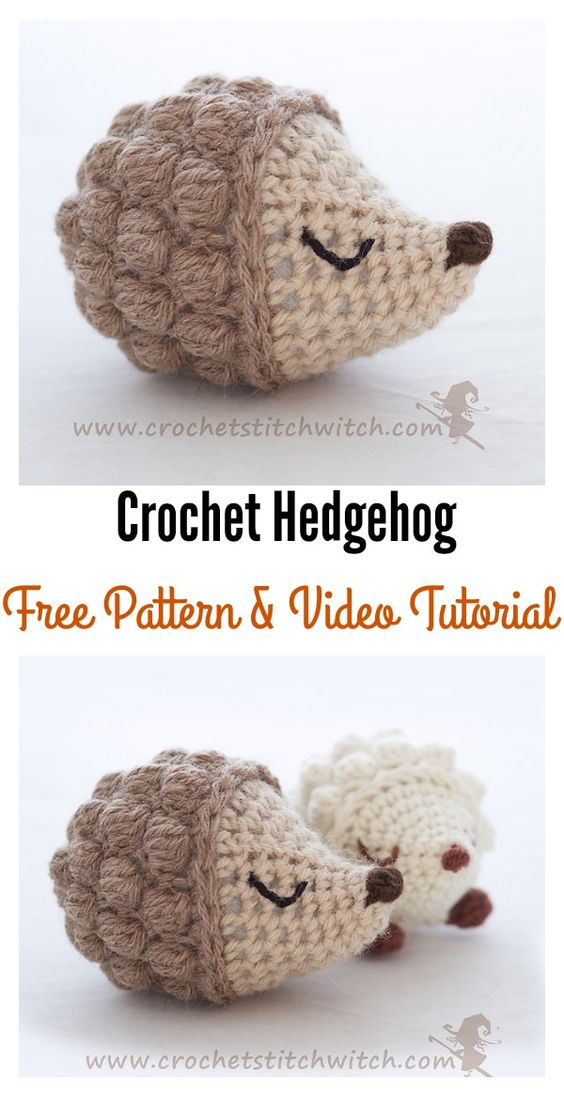 Crochet Hedgehog Amigurumi Free Patterns.