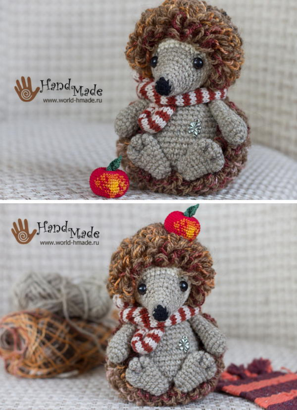 Crochet Loopy Hedgehog Jean.