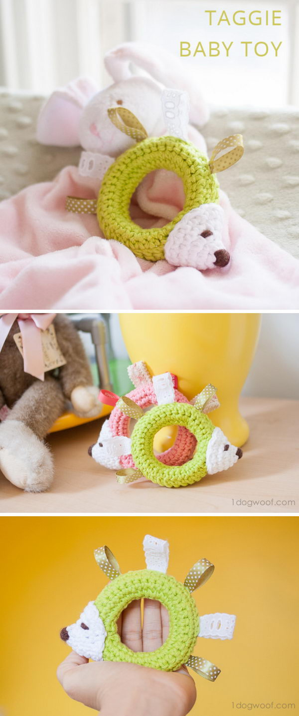 Hedgehog Taggie Baby Toy.
