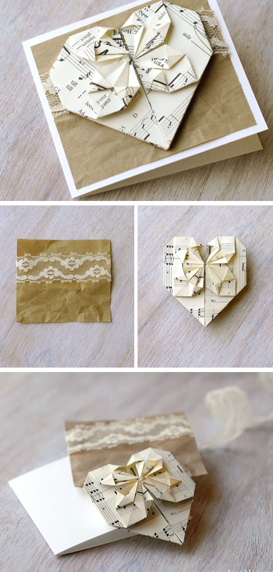 Origami Valentines Card.