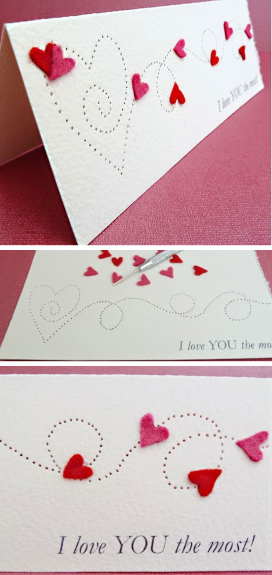 Paper Pierced Valentine's Card.