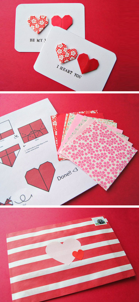 double heart cards